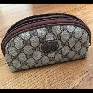 Vintage Gucci Monogram Cosmetic Bag